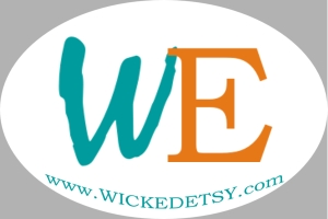 Wicked Etsy Bumper Sticker, Oval